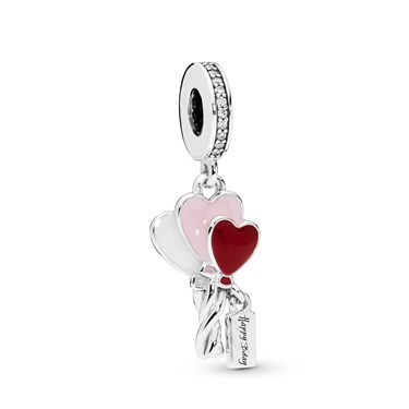 Pandora Birthday Balloons Pendant Charm  - Click to view larger image