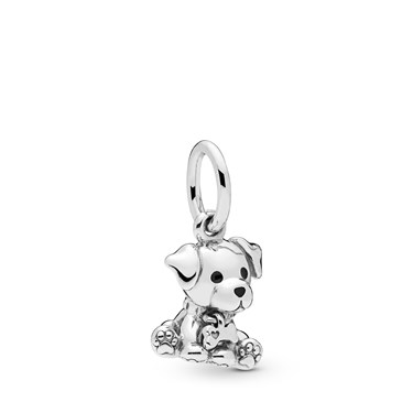 Pandora Labrador Puppy Pendant Charm  - Click to view larger image