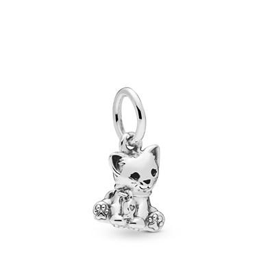 Pandora Sweet Cat Pendant Charm  - Click to view larger image