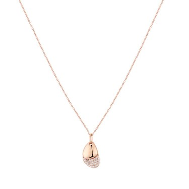 Argento Rose Gold Organic Necklace  - Click to view larger image