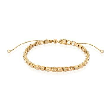 Karma Gold Bead Pull Bracelet  - Click to view larger image