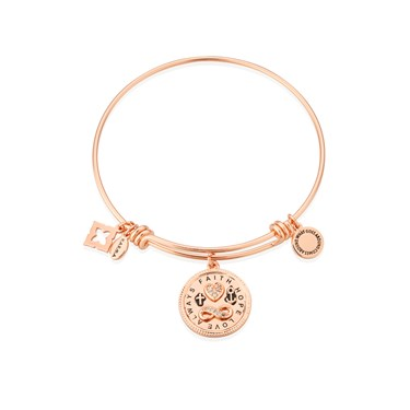 Karma Faith Hope + Love Bangle  - Click to view larger image