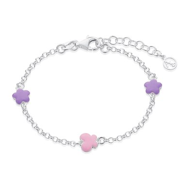 Argento Childrens Flower + Butterfly Bracelet   - Click to view larger image
