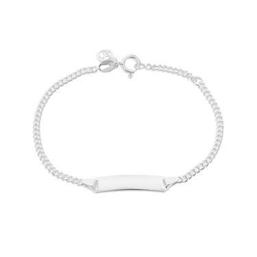Argento Childrens Engravable Bar Bracelet  - Click to view larger image