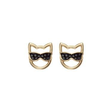 Karl Lagerfeld Gold Choupette Sunglasses Earrings  - Click to view larger image