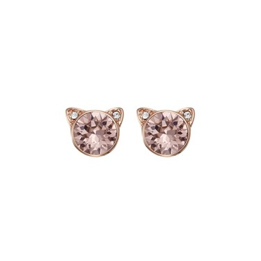 Karl Lagerfeld Rose Gold Choupette Earrings  - Click to view larger image