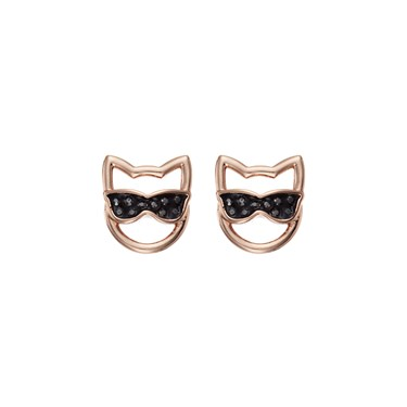 Karl Lagerfeld Rose Gold Choupette Sunglasses Earrings  - Click to view larger image