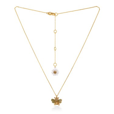 Kate Spade New York Mini Bee + Flower Necklace  - Click to view larger image