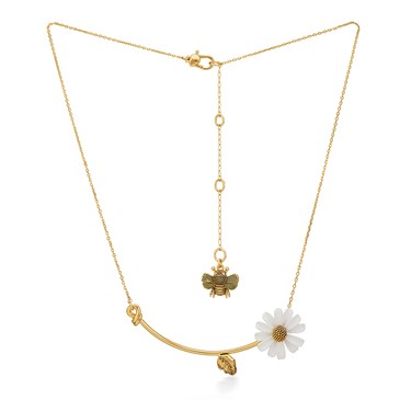 Kate Spade New York Gold Daisy + Bee Necklace   - Click to view larger image
