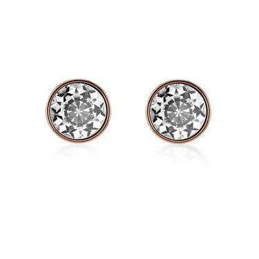 Kate Spade New York Mini Round Clear Rose Gold  Earrings   - Click to view larger image