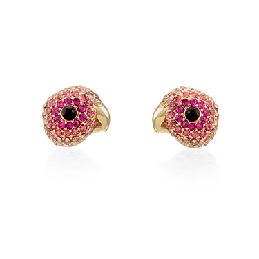 Kate Spade New York Rose Gold Pink Parrot Earrings   - Click to view larger image