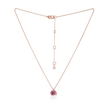 Kate Spade New York Rose Gold Pink Parrot Necklace  - Click to view larger image