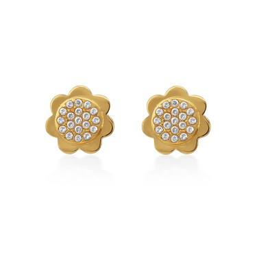 Kate Spade New York Gold Crystal Scallop Earrings   - Click to view larger image