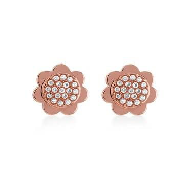 Kate Spade New York Rose Gold Crystal Scallop Earrings   - Click to view larger image