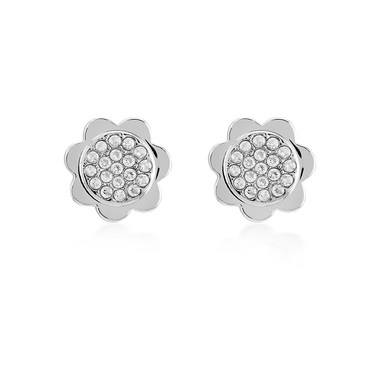 Kate Spade New York Silver Crystal Scallop Earrings   - Click to view larger image