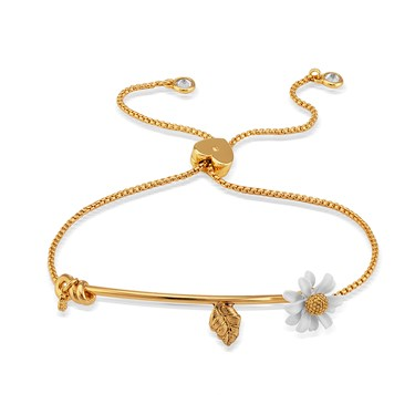Kate Spade New York Gold Daisy Slider Bracelet   - Click to view larger image