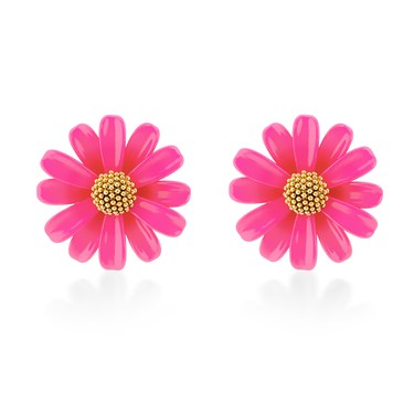 Kate Spade New York Hot Pink Daisy Stud Earrings  - Click to view larger image