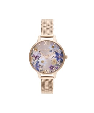 Olivia Burton Best In Show Rose Gold Floral Watch  - Click to view larger image