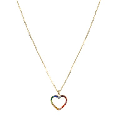 August Woods Rainbow Heart Necklace  - Click to view larger image