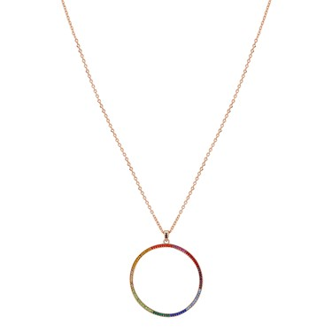 August Woods Rainbow Hoop Necklace  - Click to view larger image