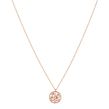 Argento Rose Gold Coral Crystal Necklace  - Click to view larger image