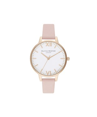 Olivia Burton Timeless Dusty Pink + Pale Gold Watch  - Click to view larger image