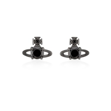 Vivienne Westwood Black Reina Earrings  - Click to view larger image
