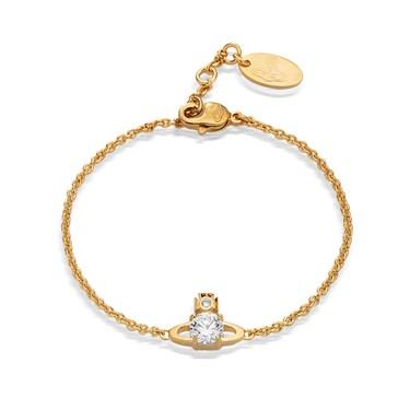 Vivienne Westwood Gold Crystal Reina Bracelet  - Click to view larger image