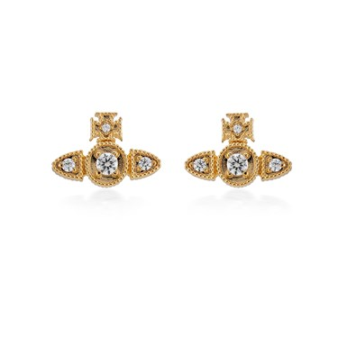 Vivienne Westwood Mairi Gold Earrings  - Click to view larger image