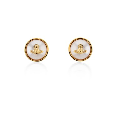 Vivienne Westwood Gold Olga Pearl Earrings  - Click to view larger image