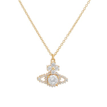 Vivienne Westwood Gold Valentina Orb Necklace  - Click to view larger image