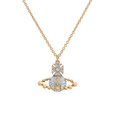 Vivienne Westwood Lena Gold Bas Relief Necklace  - Click to view larger image
