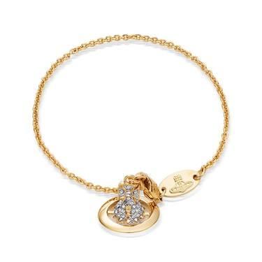 Vivienne Westwood Lena Gold Orb Bracelet  - Click to view larger image