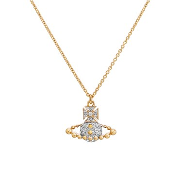 Vivienne Westwood Lena Gold Small Bas Relief Necklace  - Click to view larger image