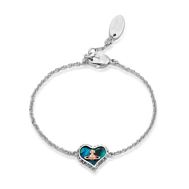 Vivienne Westwood Petra Blue Mother of Pearl Bracelet  - Click to view larger image