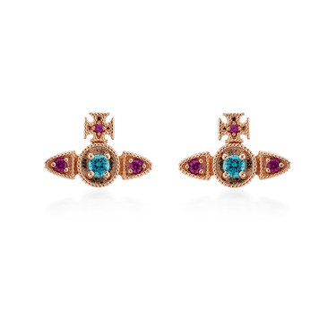 Vivienne Westwood Mairi Rose Gold Earrings  - Click to view larger image