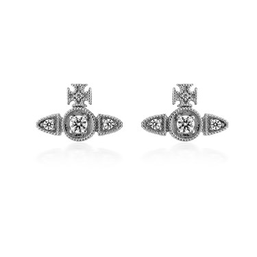 Vivienne Westwood Mairi Silver Earrings  - Click to view larger image