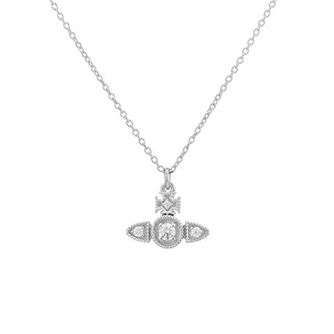 Vivienne Westwood Mairi Silver Necklace  - Click to view larger image