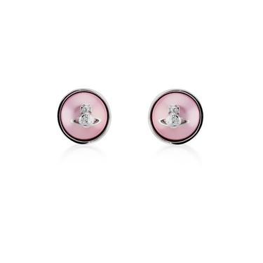 Vivienne Westwood Rose Olga Pearl Earrings  - Click to view larger image