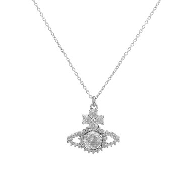 Vivienne Westwood Silver Valentina Orb Necklace  - Click to view larger image