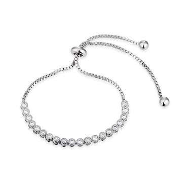 August Woods Silver Crystal Shine Pull Bracelet  - Click to view larger image