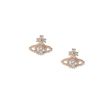 Vivienne Westwood Gold Valentina Orb Earrings  - Click to view larger image
