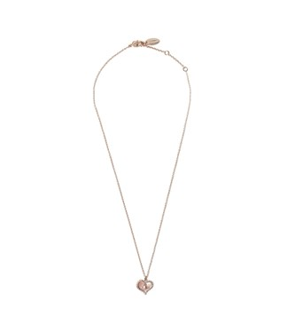 Vivienne Westwood Rose Gold + Pink Petra Necklace  - Click to view larger image