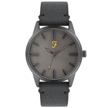 Farah Classic Blue Grey Suedette Watch   - Click to view larger image