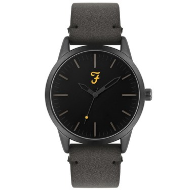 Farah Classic Grey Suedette Watch   - Click to view larger image