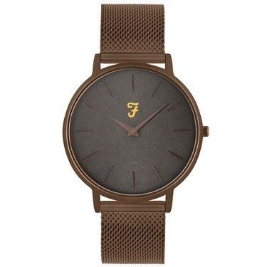 Farah Slim Jim Bronze Mesh + Grey Dial Watch   - Click to view larger image
