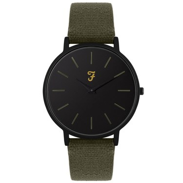 Farah Slim Jim Hopsack Heritage Canvas Watch   - Click to view larger image
