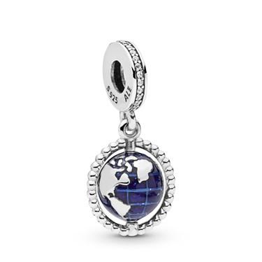 Pandora Spinning Globe Pendant Charm  - Click to view larger image