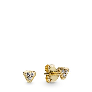 Pandora Sparkling Triangles Stud Earrings  - Click to view larger image