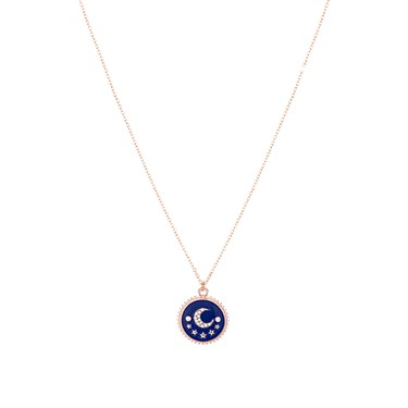 Dirty Ruby Midnight Moon Necklace  - Click to view larger image